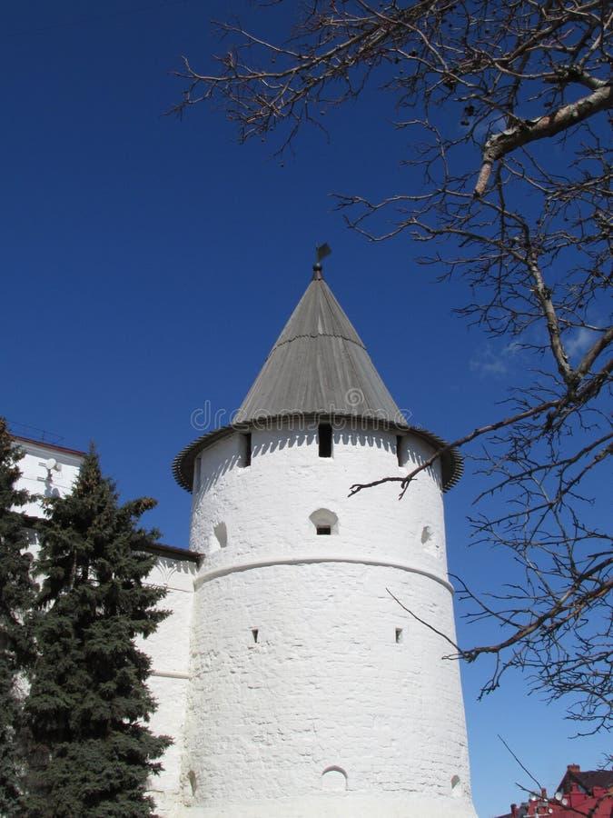 鞑靼斯坦共和国 喀山克里姆林宫,东南塔 免版税库存照片