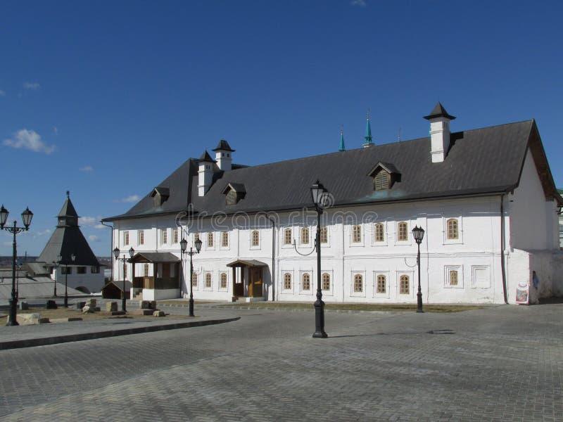 鞑靼斯坦共和国 喀山克里姆林宫 其中一个喀山克里姆林宫的大厦 库存照片