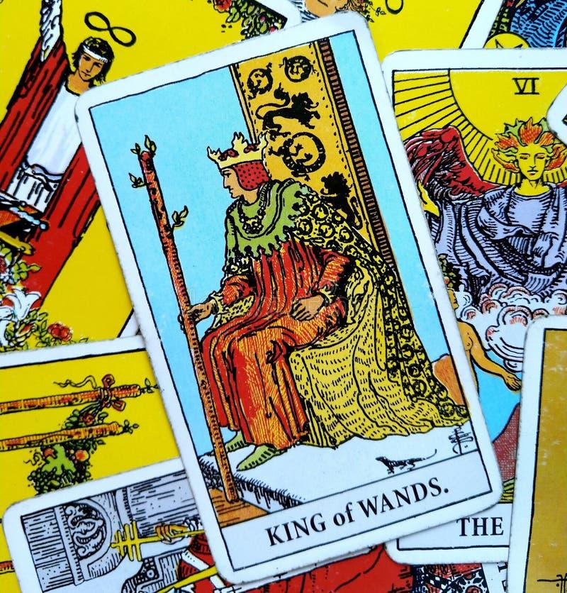 鞭子占卜用的纸牌动态强有力的坚强的领导人统治者上司主任Experienced Mentor角色模型目标的国王Sette 库存例证