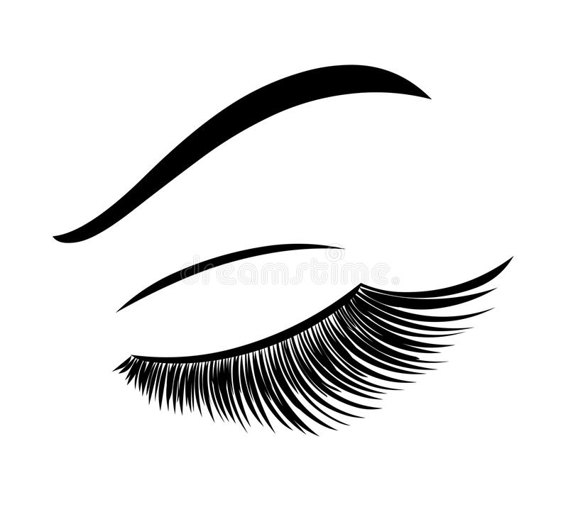 鞭子 睫毛引伸 向量例证