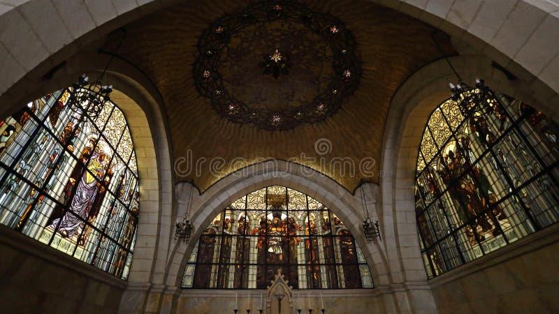 鞭打教会通过Dolorosa,耶路撒冷,以色列 图库摄影