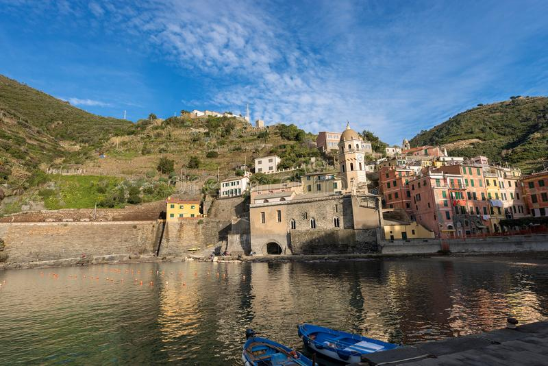 韦尔纳扎-五乡地-利古里亚意大利 免版税库存图片
