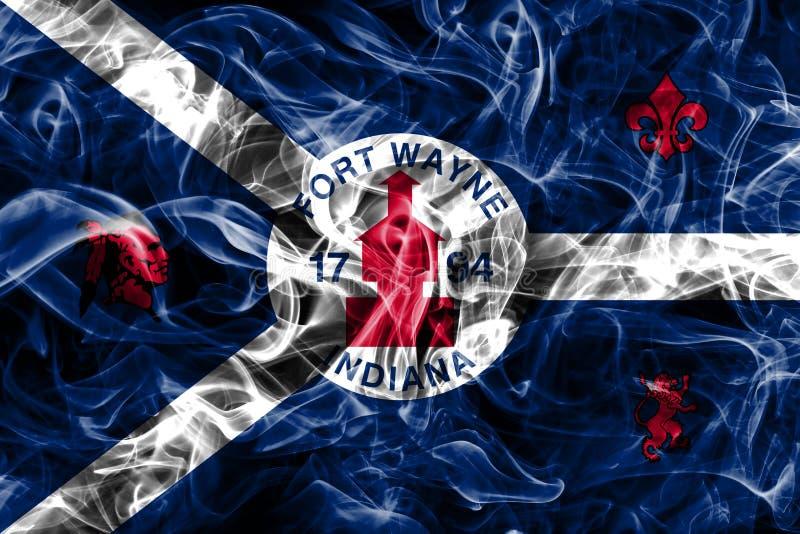 韦恩堡市烟旗子,印第安纳状态,阿梅尔美国  库存图片