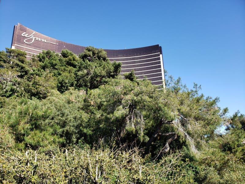 韦恩旅馆的外视图在拉斯维加斯,内华达天 库存图片