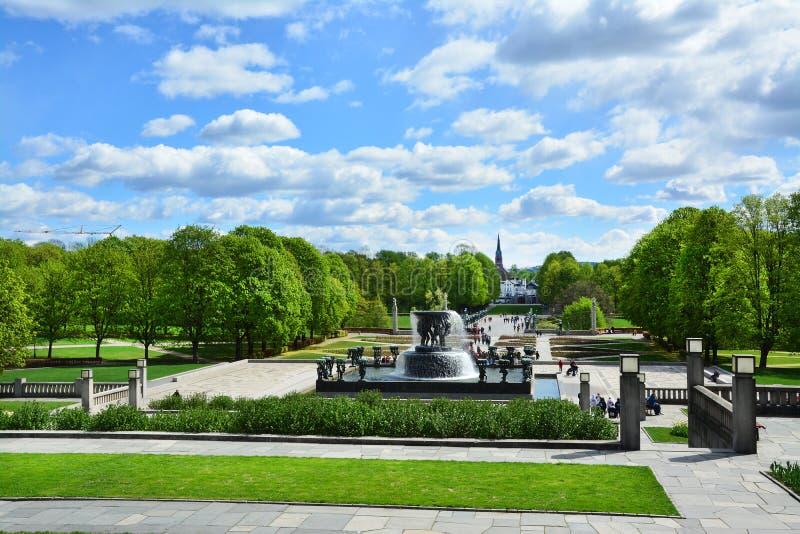 韦格兰公园在奥斯陆,挪威 图库摄影