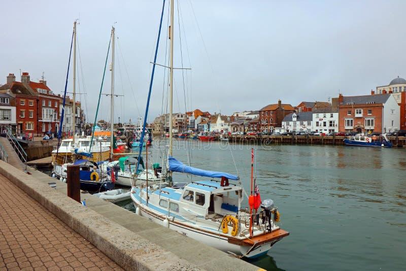 韦茅斯港口 多西特,英国 免版税图库摄影