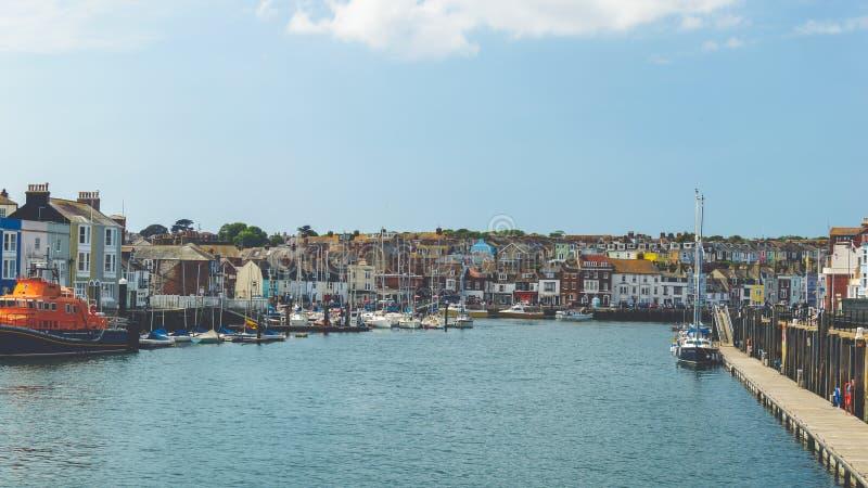 韦茅斯老港口 库存图片