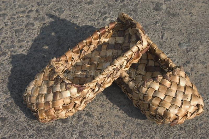 韧皮鞋子 图库摄影