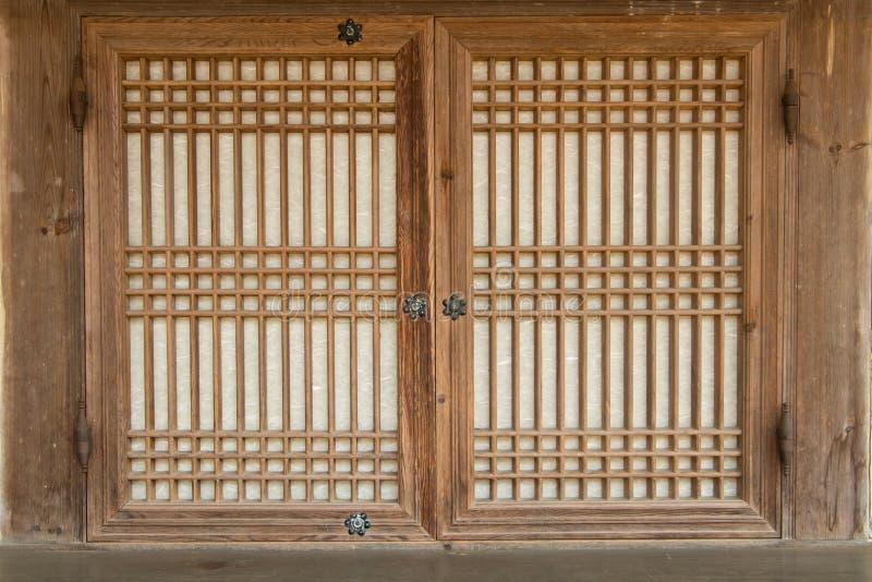韩国传统窗口 库存照片