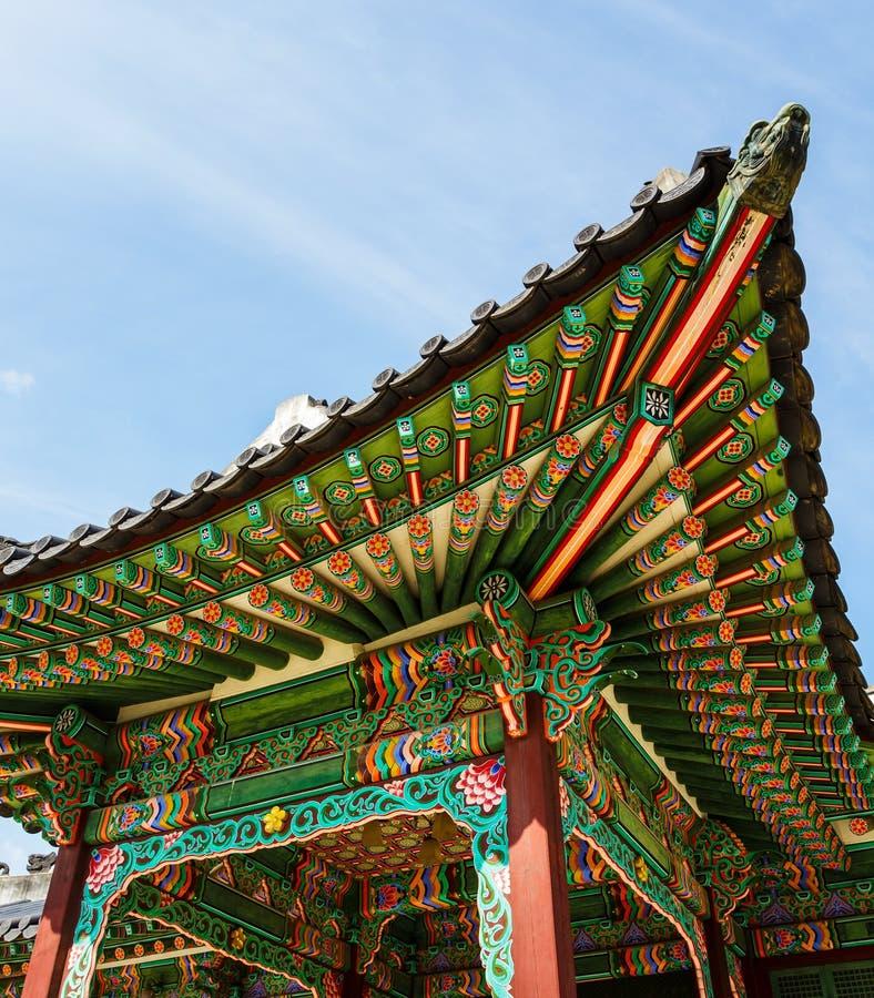 韩国传统建筑学 图库摄影