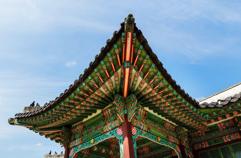 韩国传统建筑学 库存照片