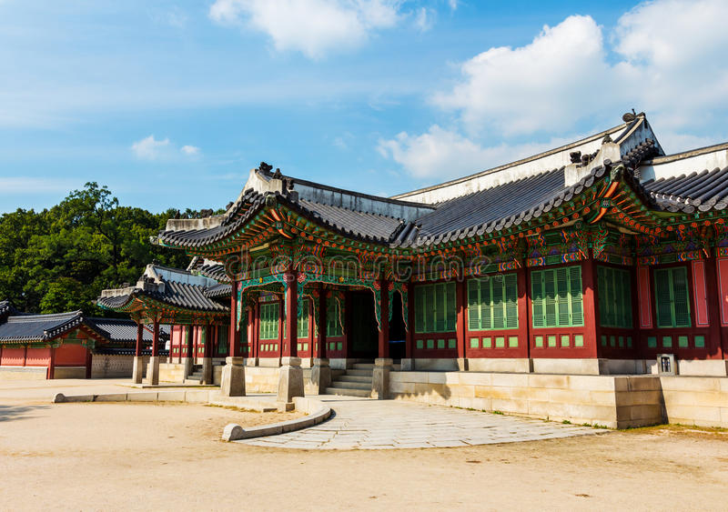 韩国传统建筑学 库存图片