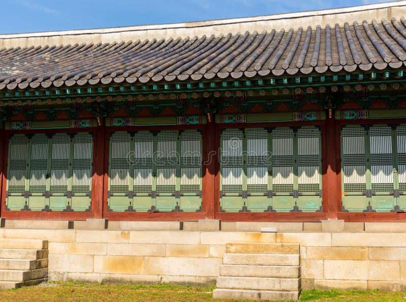韩国传统建筑学 免版税图库摄影