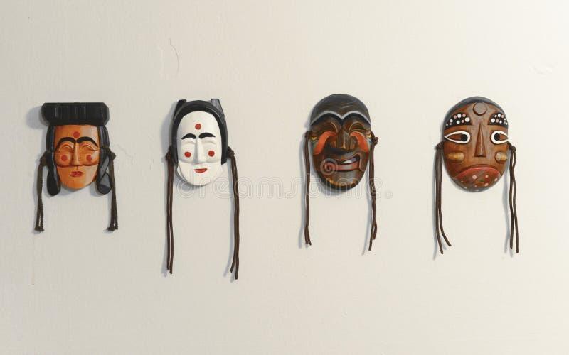 韩国传统面具 免版税库存照片