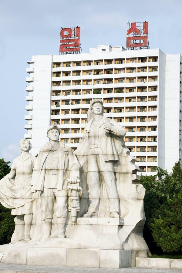 韩国北部雕塑 免版税库存图片