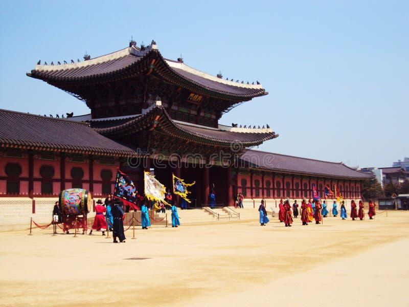 韩国宫殿 免版税库存照片
