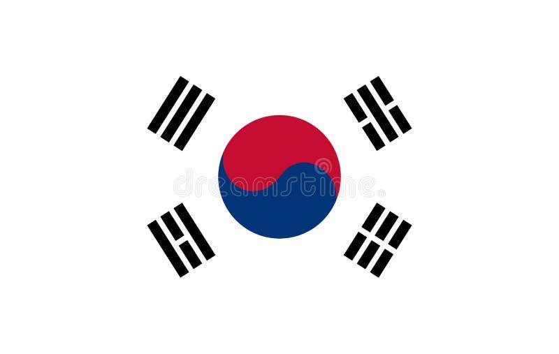 韩国旗子 库存例证