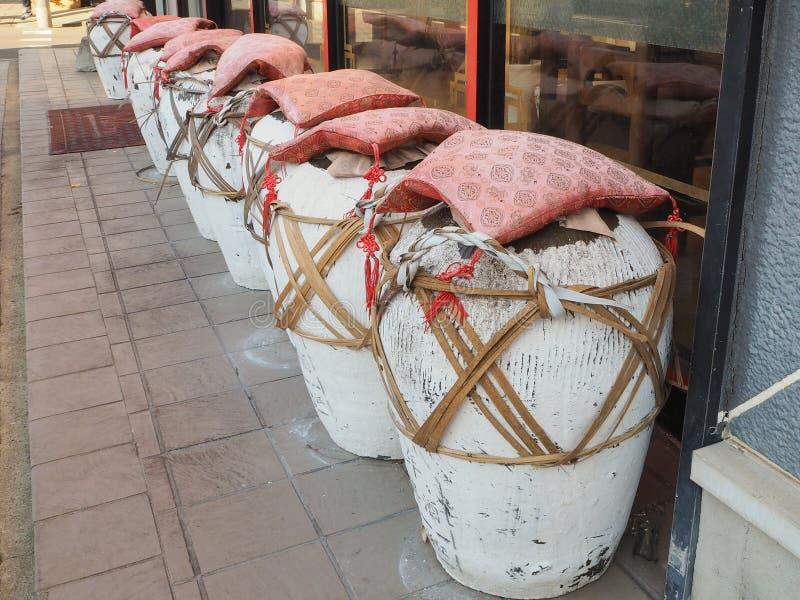 韩国泡菜罐 图库摄影
