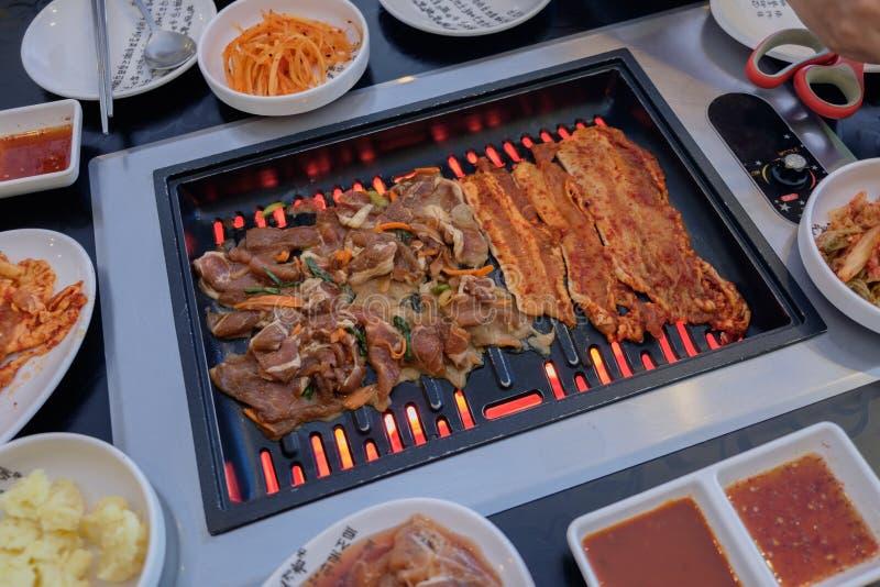 韩国猪肉BBQ 库存照片