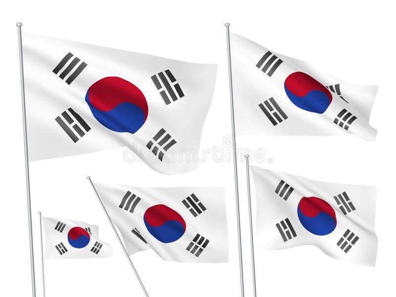 韩国的传染媒介旗子 皇族释放例证