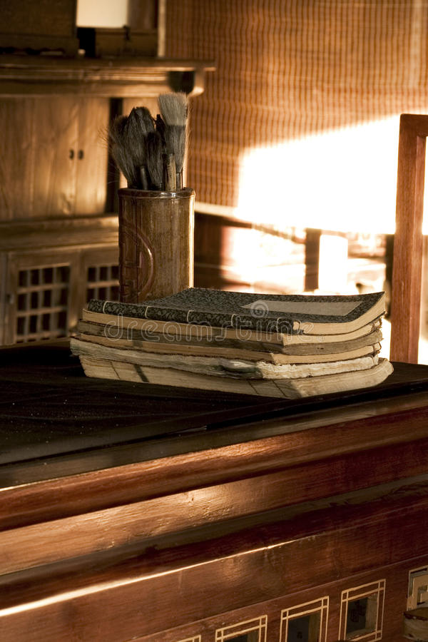 韩国的旧书 免版税图库摄影