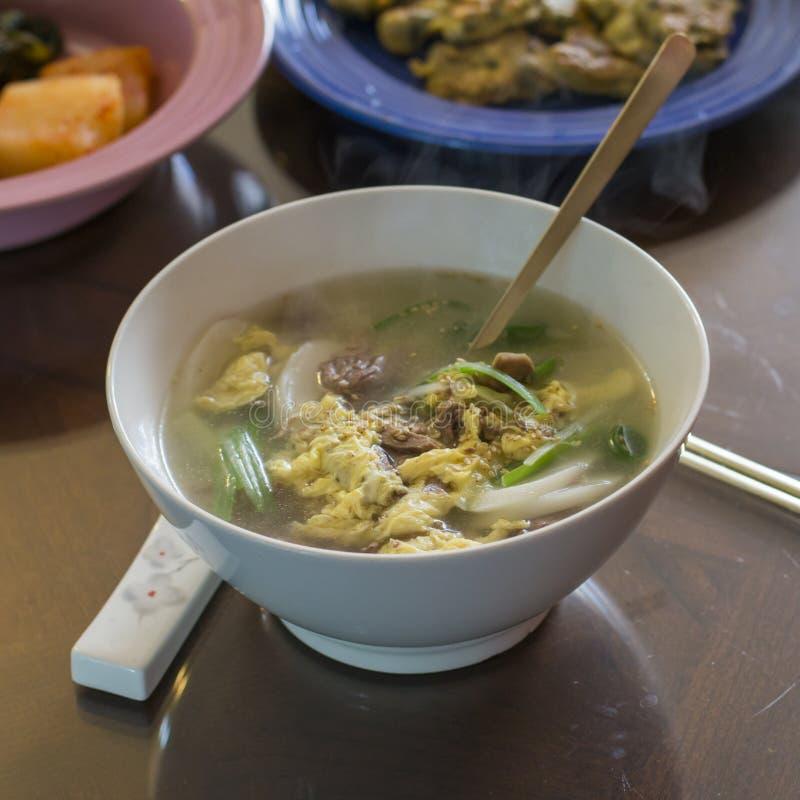 韩国自创年糕汤 免版税库存图片