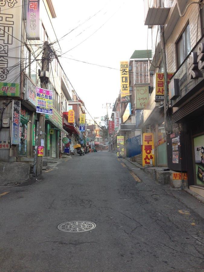 韩国街道 免版税库存图片