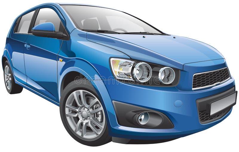 韩国超小型斜背式的汽车 向量例证