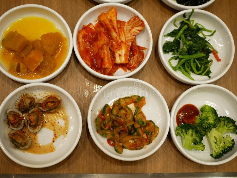 韩国食物开胃菜 有选择性的focus〠' 免版税图库摄影