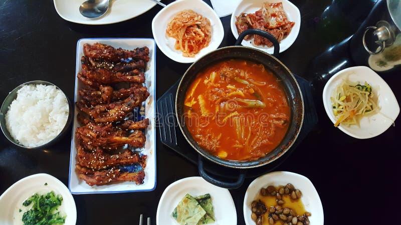 韩国食物:可口肉 库存图片