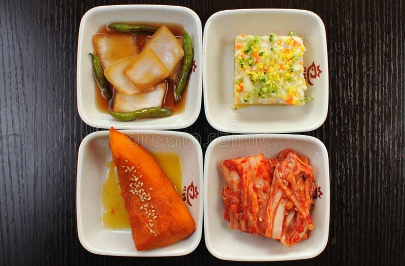 韩文开胃菜 库存图片