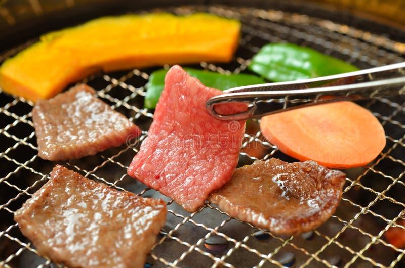 韩文烤肉Yakiniku 库存图片