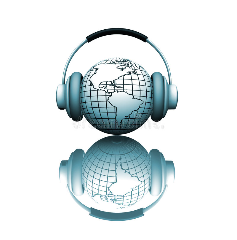 音乐世界 向量例证