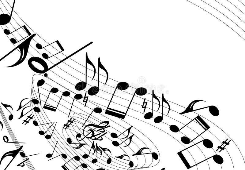 音乐主题旋转 皇族释放例证