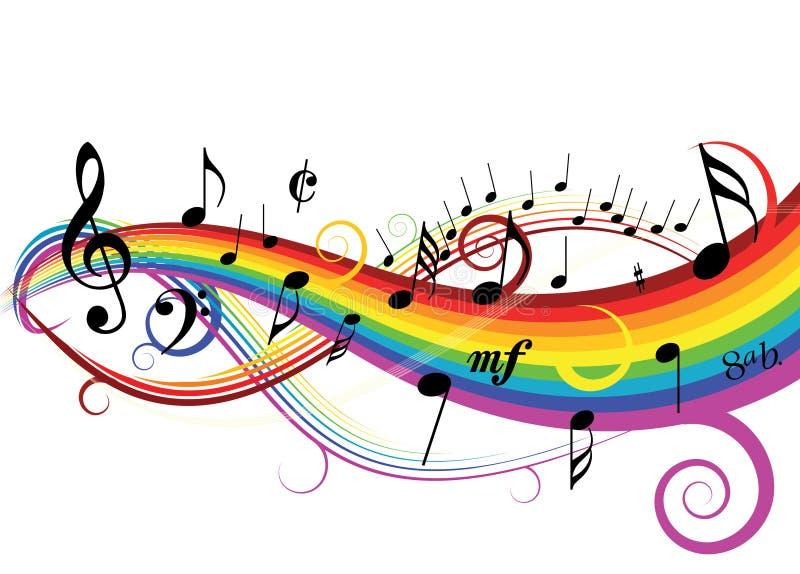 音乐主题 向量例证