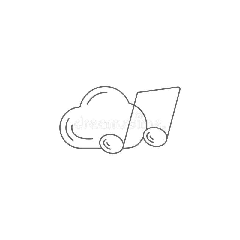 音乐云彩象 简单的元素例证 音乐云彩标志设计模板 能为网和机动性使用 皇族释放例证