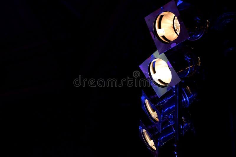 音乐会反射器光 库存照片