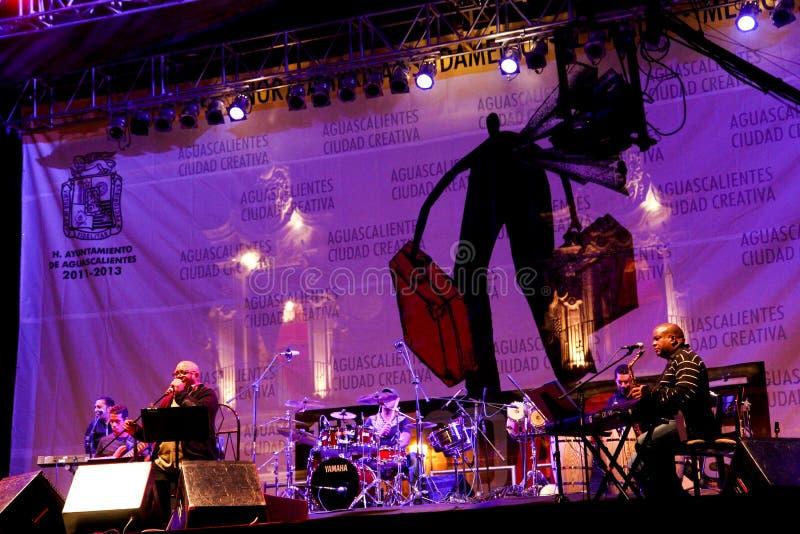 音乐会古巴milanes帕布鲁棕色歌唱家 库存照片