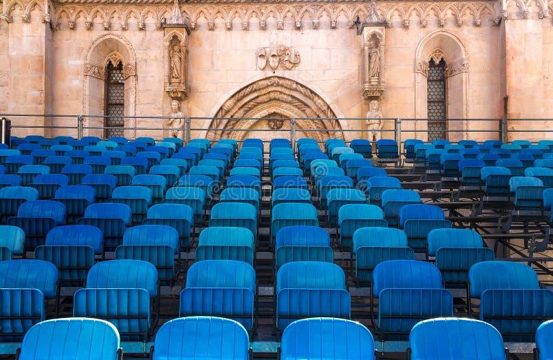 音乐会地点在圣詹姆斯大教堂里  希贝尼克 库存图片