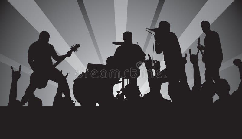 音乐会废物 免版税库存照片