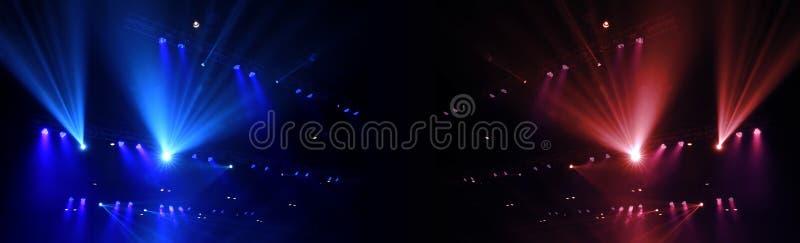 音乐会斑点照明设备 免版税库存图片