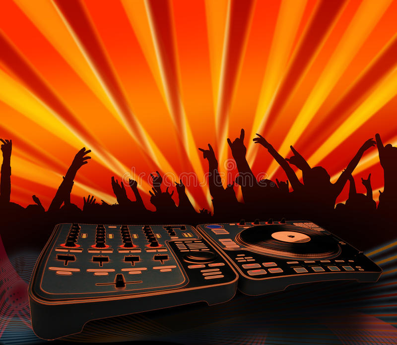音乐会电镀质朴的音乐人员 库存例证