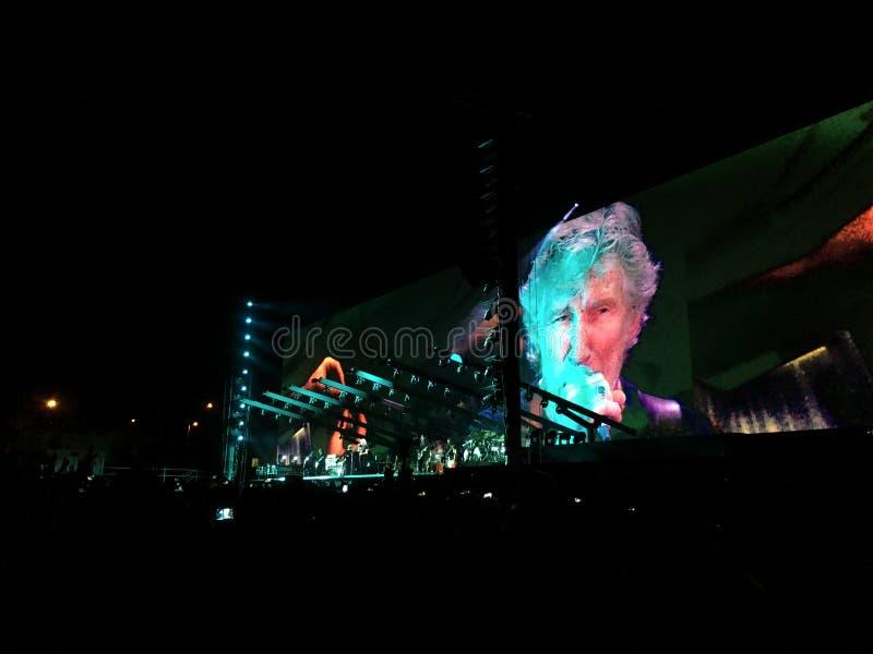 音乐会的罗杰・瓦特斯在Circo马西莫,罗马 免版税库存图片