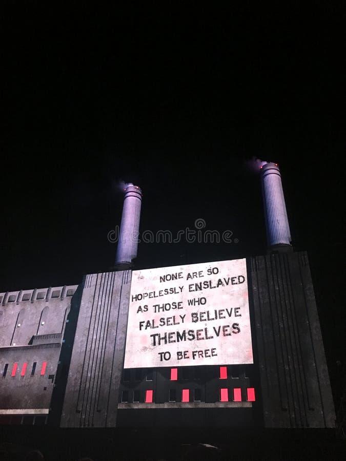 音乐会的罗杰・瓦特斯在Circo马西莫,罗马 免版税库存照片