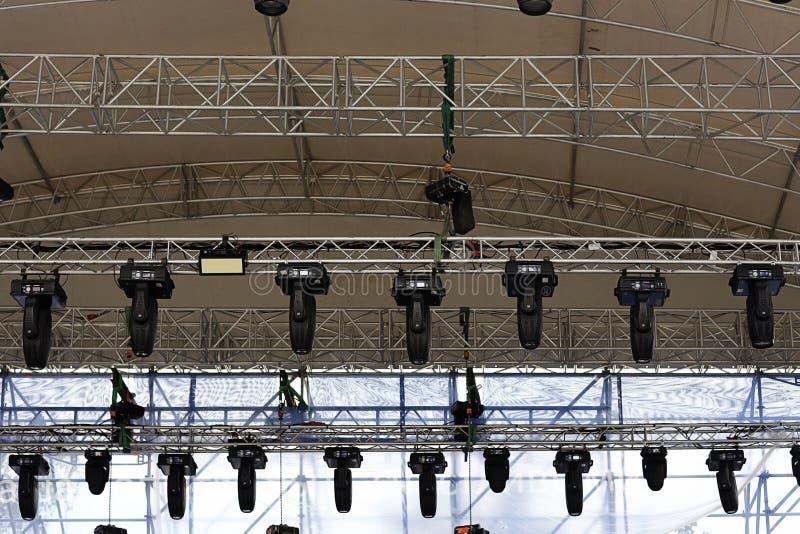 音乐会的设备 库存图片