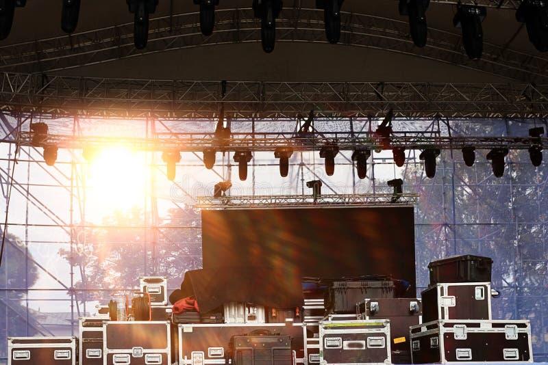 音乐会的设备 免版税库存图片