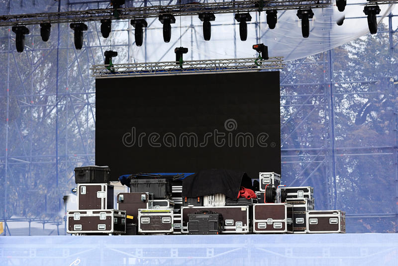 音乐会的设备 免版税图库摄影