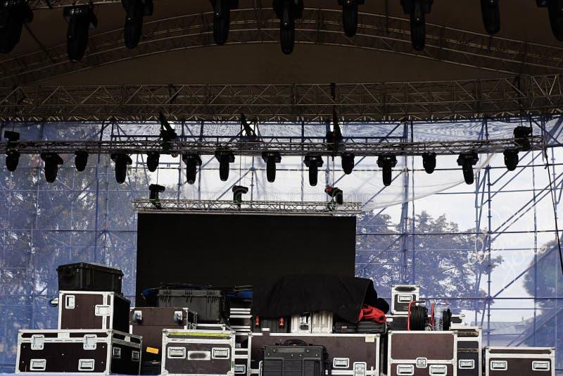音乐会的阶段设备 免版税图库摄影