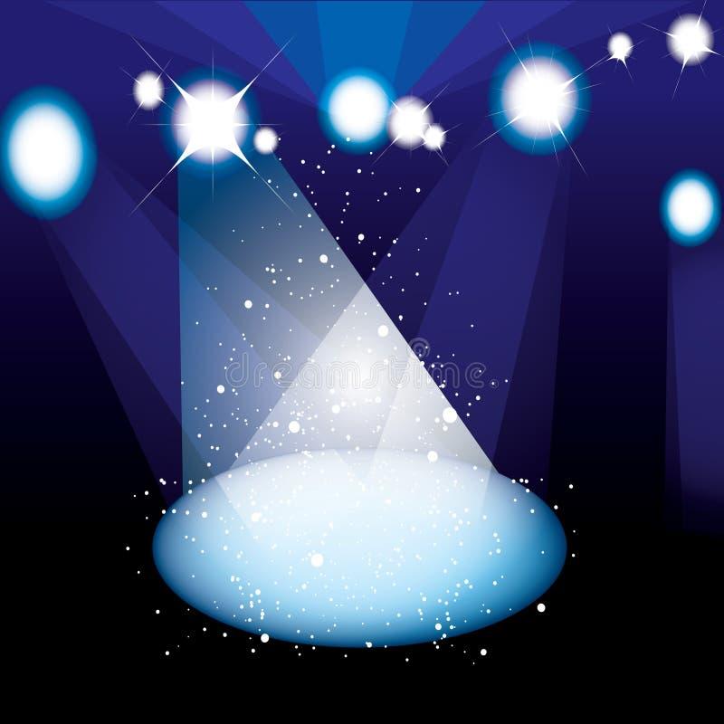 音乐会聚光灯阶段 皇族释放例证