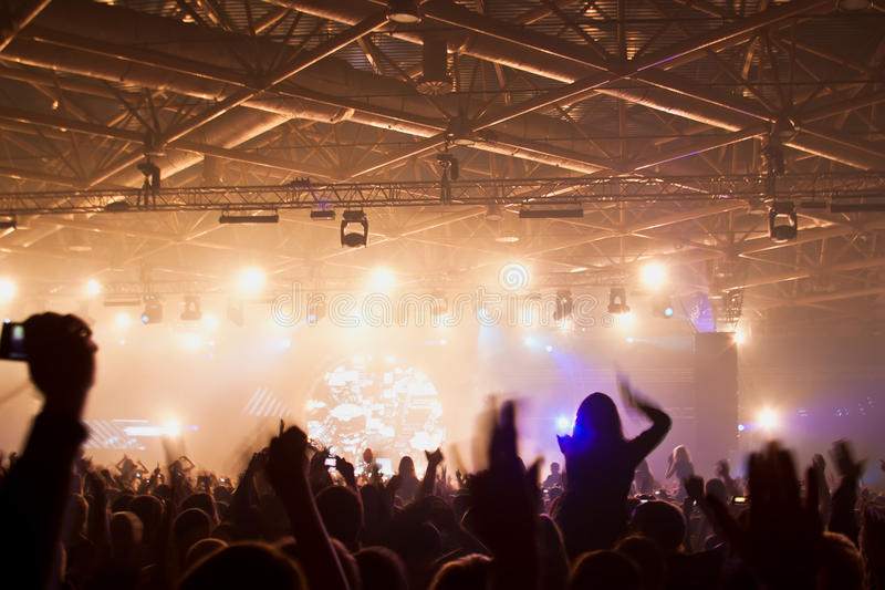 音乐会表现 免版税图库摄影